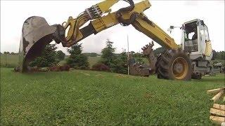 getlinkyoutube.com-Menzi Muck M545 - zemní práce / STAVOPLAST KL / Time lapse
