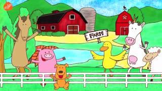 getlinkyoutube.com-Farm Animals Song - Animals Sounds Song - Walk Around the Farm - ELF Learning