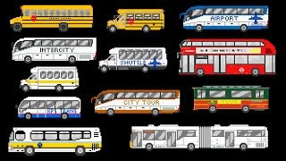 getlinkyoutube.com-Buses - Street Vehicles - The Wheels on the Bus - The Kids' Picture Show (Fun & Educational)