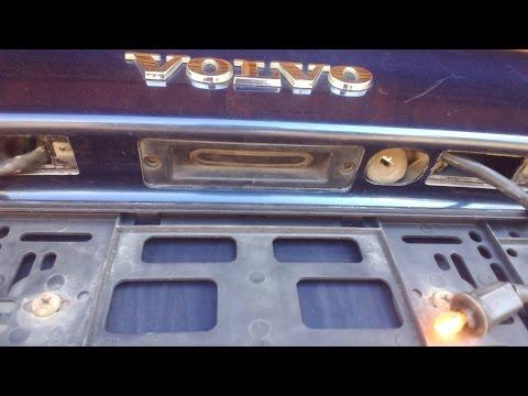 Volvo S80. Замена кнопки багажника.