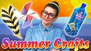 getlinkyoutube.com-Summer Craft Compilation | Patriotic Pinwheel, Spongebob & More | Arts & Crafts with Crafty Carol