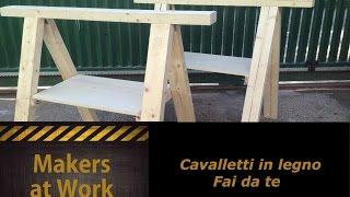 getlinkyoutube.com-Fai da te - Cavalletti in legno