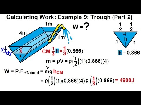 Calculus 2: Apllications - Calculating Work (10 of 16) Calculating Work Example 9: Trough (Part 2)