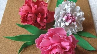 Цветы из фоамирана мастер класс пион.Часть 2