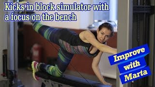 getlinkyoutube.com-Kicks in block simulator with a focus on the bench - Improve with Marta
