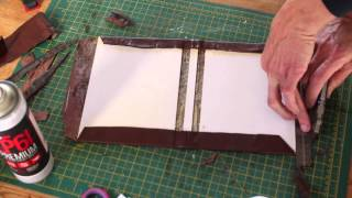 getlinkyoutube.com-Making a Leather bound Hardcover Notebook / Journal simple DIY maker project, school or college book
