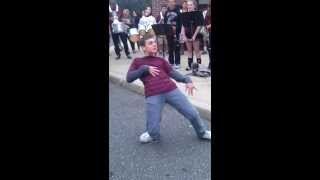 Bay Shore HS Bonfire 2013 EPIC Dance Battle!!!