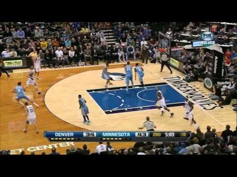 Timberwolves vs Nuggets (Highlights - Kevin Love Debut - 2012) [HD]