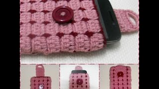 getlinkyoutube.com-Cell phone case Part-1 crochet Tutorial-Hackovanie Crochet