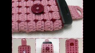 getlinkyoutube.com-Cell phone case Part-1 crochet Tutorial-Hackovanie Crochet