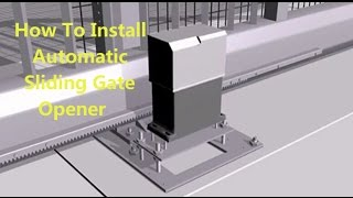 getlinkyoutube.com-How  to install a automatic sliding gate opener, flash display with detail steps