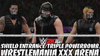 getlinkyoutube.com-WWE 2K16 - The Shield's Entrance & Triple Powerbomb in the WrestleMania XXX Arena!