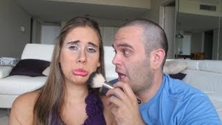 getlinkyoutube.com-Mi esposo me maquilla