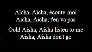 Aicha - Cheb Khaled - French (subs francais -anglais-French-English)