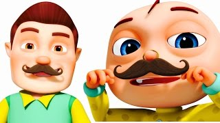 getlinkyoutube.com-Funny Little Babies Wearing Mustache | Five Little Babies Collection | Zool Babies Fun Songs
