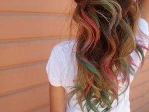 DIY: Lauren Conrad Inspired Rainbow Tips