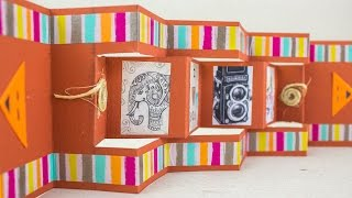 getlinkyoutube.com-Tarjeta Scrapbook acordeon / Jeguridos