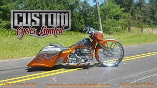 getlinkyoutube.com-Custom Cycles LTD Mohamed's 30 inch street glide big wheel harley davidson