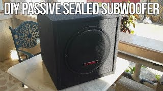 How To Build DIY Home Subwoofer (Passive + Sealed)