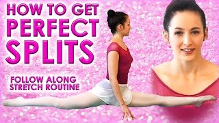 getlinkyoutube.com-Perfect SPLITS Flexibility Stretch Challenge, How To Do The Splits Class for Beginners Exercises