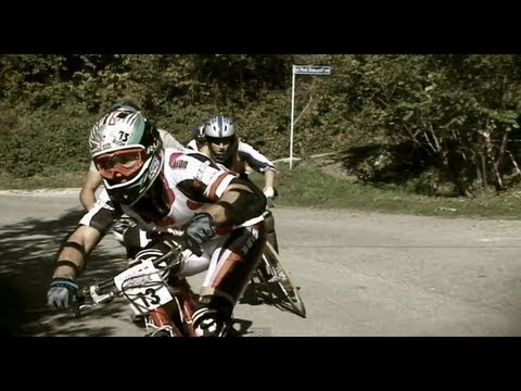 Downhill bike race on streets of Poland - Red Bull Road Rage 2011