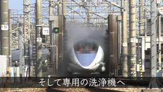 getlinkyoutube.com-「日本の新幹線専用洗浄機の実力」 未来世紀ジパング 番外編(2014.2.10)