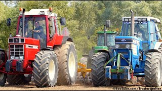 getlinkyoutube.com-Eighties Legends - Ford TW-35 / International 1455 XL / John Deere 4050 | Heavy soil ripping
