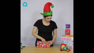 This Gift Wrapping Hack Can Be Done With One Piece of Tape!