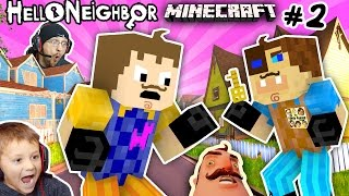 getlinkyoutube.com-MINECRAFT HELLO NEIGHBOR & HIS BROTHER FIGHT 4 Basement Key |FGTEEV Scary Roleplay Games for Kids #2