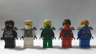 getlinkyoutube.com-Custom LEGO Ninjago Rebooted minifigures: Techno Silver Jay and Cole