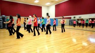 getlinkyoutube.com-Stop Staring At My Eyes! - Line Dance (Dance & Teach in English & 中文)