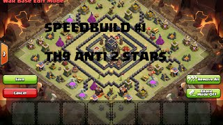 getlinkyoutube.com-BEST Town Hall 9 (TH9) WAR BASE ANTI 2 STARS - SPEED BUILD! #1