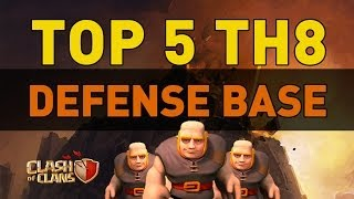 getlinkyoutube.com-Clash of Clans - TOP 5 TH8 Defense Bases