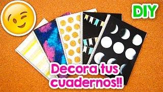 DIY | 5 Formas para Forrar y decorar tus Cuadernos!! + Blooper | FÁCIL | PumitaNegraArt 🐾