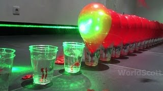 getlinkyoutube.com-World Record Submission - 100 Laser Balloon Popping Dominoes - Wicked Lasers S3 Krypton 750mW+ IMG *