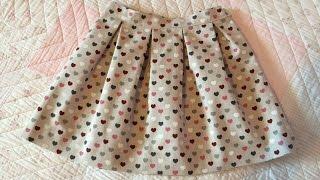 getlinkyoutube.com-Falda de tablas. Pleated skirt