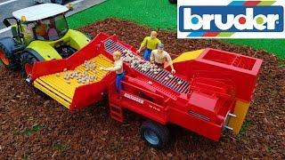 getlinkyoutube.com-BRUDER toys potato DIGGER harvest RC action Grimme