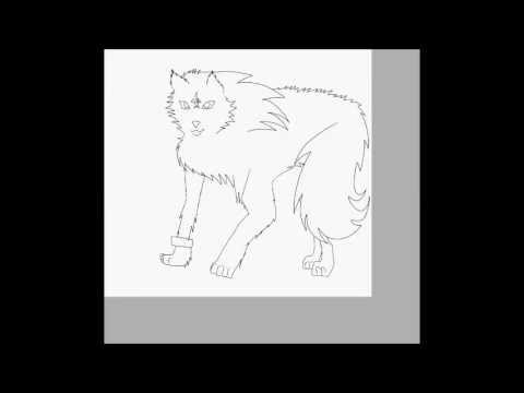 Drawing Wolf Link-paint tool sai