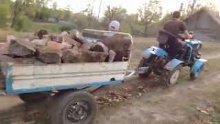 getlinkyoutube.com-Мини трактор из мотоблока бой бетонный