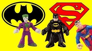 getlinkyoutube.com-Joker tries to steal Superman Cape from Batman imaginext toys