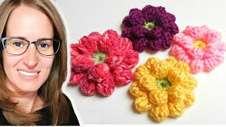 getlinkyoutube.com-Crochet Flower Tutorial - www.myhobbyiscrochet.com