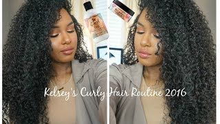 getlinkyoutube.com-Kelsey's CURLY HAIR ROUTINE 2016!