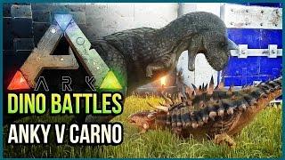 getlinkyoutube.com-ANKYLOSAURUS VS CARNOTAURUS   ARK Dinosaur Battle Arena