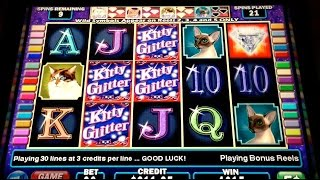 getlinkyoutube.com-Kitty Glitter BIG WIN! Slot Machine BONUS Retrigger