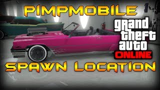 getlinkyoutube.com-GTA 5 Online- How to find the Albany Manana,Pimpmobile,Spawn Location 100%