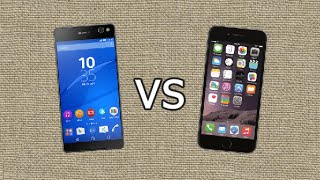getlinkyoutube.com-Sony Xperia C5 Ultra vs Apple Iphone 6 Plus - Quick Look