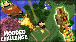getlinkyoutube.com-AWESOME JETPACK CHALLENGE WITH SURPRISE WEAPONS - Minecraft Modded Challenge w/ Simon