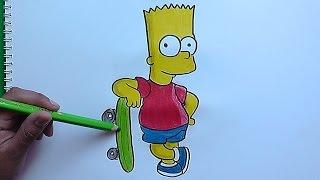 getlinkyoutube.com-Dibujando a Bart y su Patineta (Los Simpson) - Drawing Bart and his Skateboard