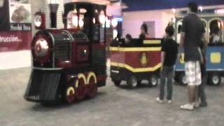 getlinkyoutube.com-MUSIC, SONGS FOR KIDS: TRAINS  Trackless trains  Kids Train Ride.  MINI EXPRESS