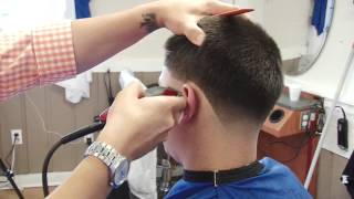 getlinkyoutube.com-step by step  skin taper fade haircut | shadow fade tutorial by HOV the barber